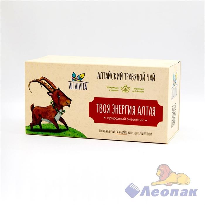 Чай алтайский травяной  Твоя энергия Алтая , в пирамидках 40гр ALTAIVITA - фото 10373