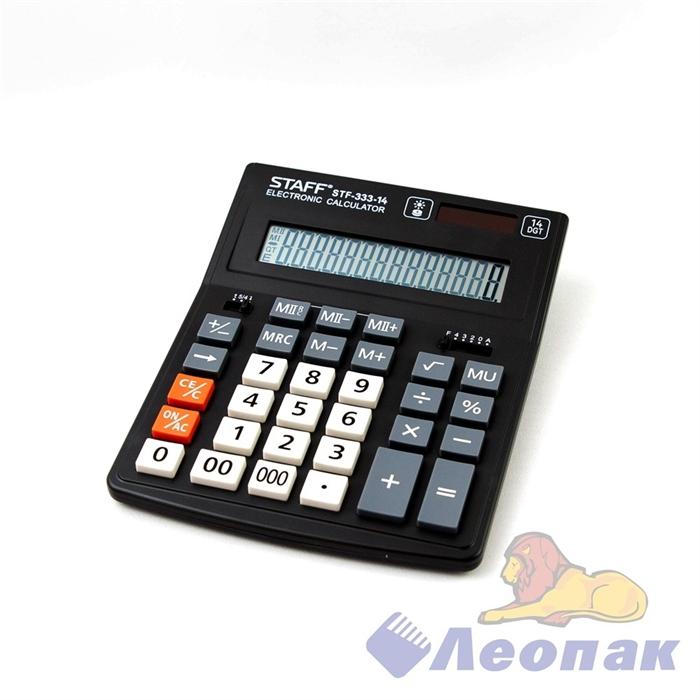 Калькулятор STAFF PLUS настольный STF-333, 14 разрядов, двойное питание, 200x154 мм, 250416 - фото 10392
