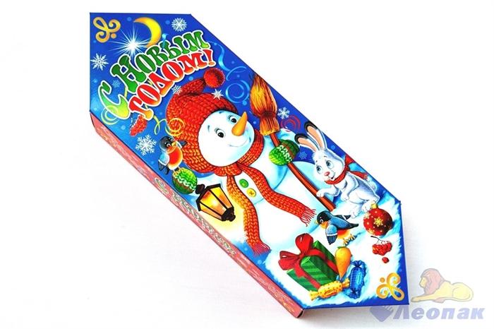 Коробка н/г  Снеговичок  100шт./пач (0,6-0,8 кг) - фото 11387