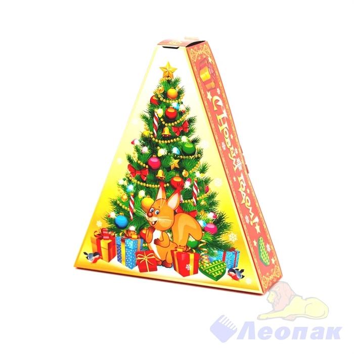 Коробка н/г  Весёлый Новый год  красная 100шт./пач (0,3-0,5кг) - фото 11399