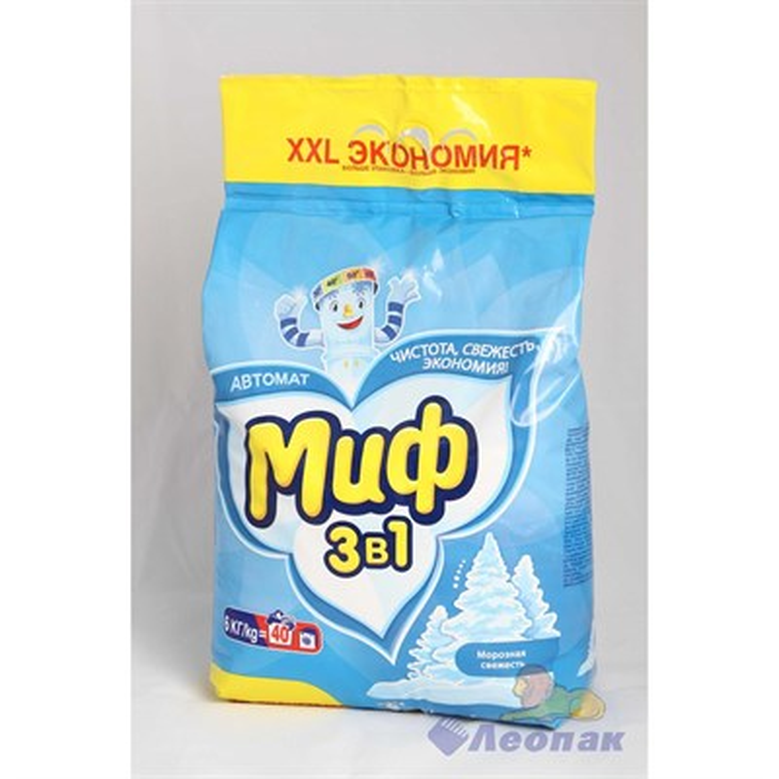 Порошок стиральный  Миф  автомат 6кг/3 для БЕЛОГО - фото 4553