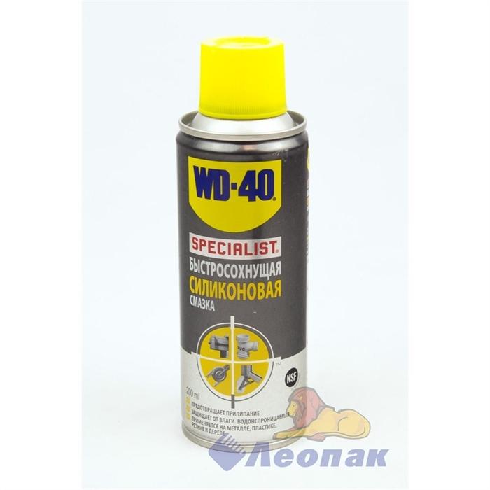 СМАЗКА WD-40 SPECIALIST (быстросохнущая, силиконовая) (200г) (12шт) SP70126 - фото 4781