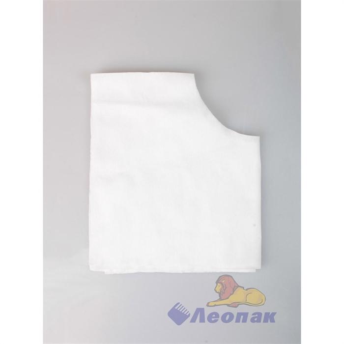 Салфетки д/массажа с отверстием белые 30*40 (50шт) - фото 4793