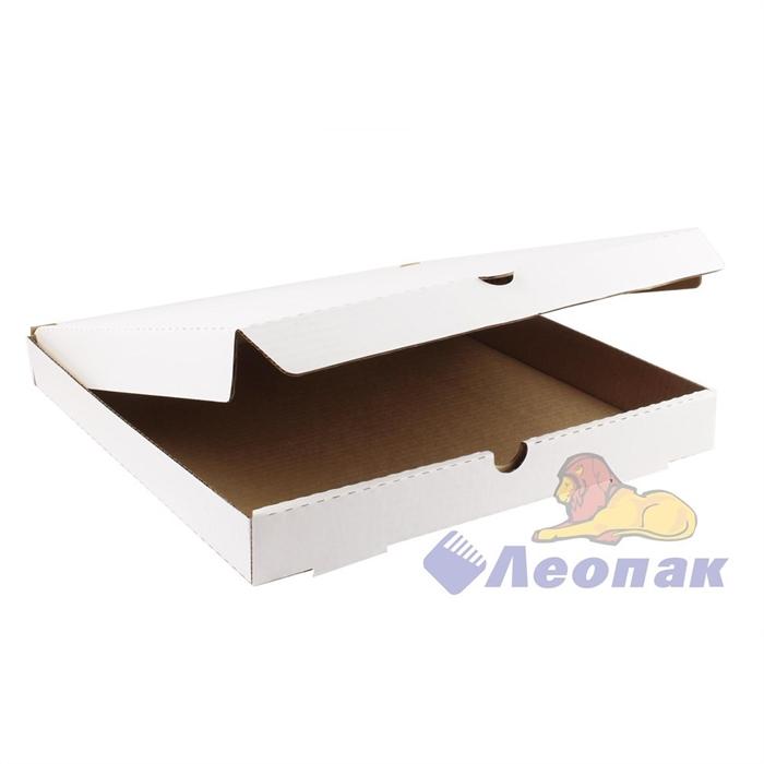 Коробка под пиццу 340х340х40 (50шт/1уп) белая - фото 4904