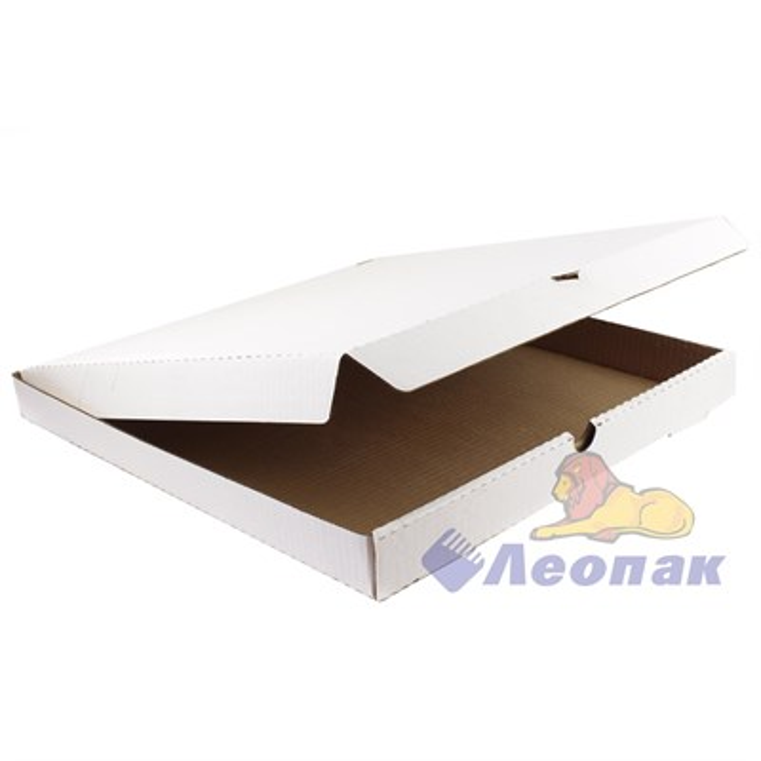 Коробка под пиццу 400х400х40 (50шт/1уп) белая /К - фото 4949