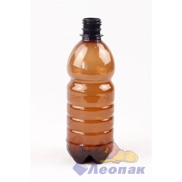 Бутылка ПЭТ 0,5л. (коричневая) (100шт.) - фото 4952