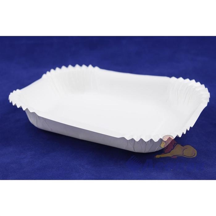 Лоток картонный глубокий 160*190мм белый мелованный (50шт/10уп) 20452 - фото 4954