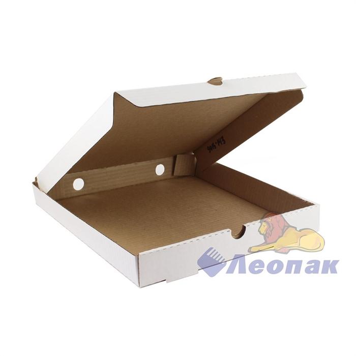 Коробка под пиццу 300х300х40 (50шт/1уп) белая - фото 4957