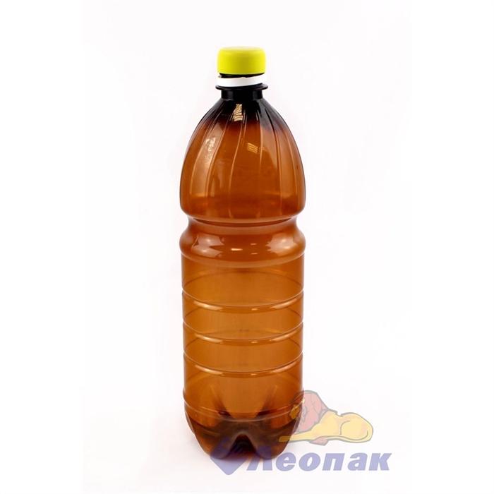 Бутылка ПЭТ 1,0л. (коричневая) (100шт.)П - фото 4967