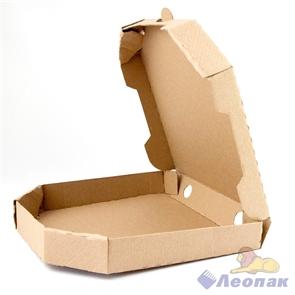 Коробка под пиццу 260*260*40мм Т11 микрогофра, серая ТРАПЕЦИЯ (50шт/1уп) МК