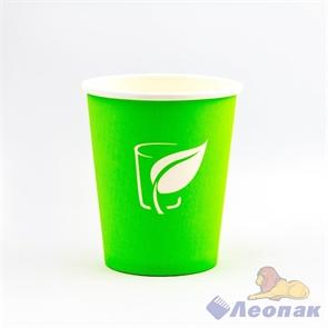 Стакан бумажный 250мл зеленый (50шт/20уп)/Л