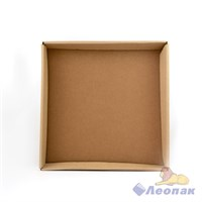 Коробка под пиццу 340х340х40 КРАФТ б/крышки (ДНО)