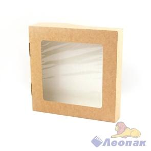 Упаковка ECO TABOX 1500 (350шт)  контейнер на вынос c окном 200*200  h 40