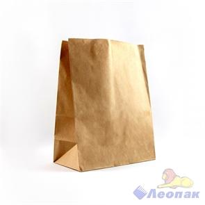 Пакет бумажный 220*120*290   На вынос  КРАФТ 70 (500шт)