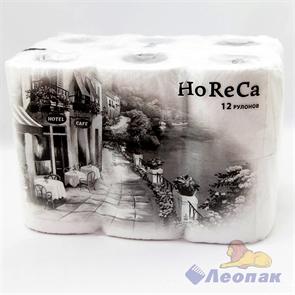 Бумага туалетная  PLUSHE HoReCa  белая, 2 слоя (12рул./8уп)