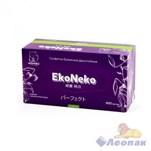 Салфетки бумажные INSHIRO EkoNeko 2-хсл. в кор. (200л./1шт/3шт/1уп/20уп) аромат. EN-405