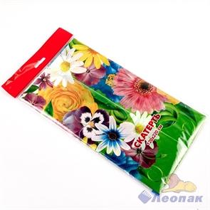 Скатерть 2200*1200  Цветочная поляна   ПВД (50шт)