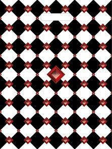 П-выр.ручка 45х34-30мкм  Клетка черно-белая   (800) ТИКО