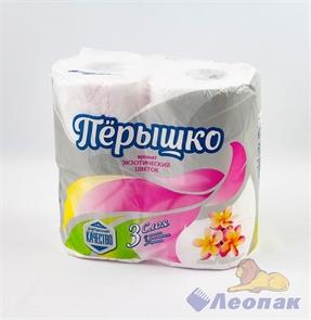 Бумага туалетная ароматизированная  Перышко Экзотический цветок  3-х сл.(4шт/21уп)