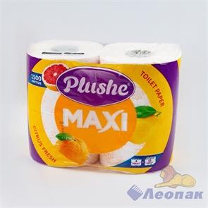 Бумага туалетная  PLUSHE Max  Green apple  белая 2-х сл.(4шт/9уп)