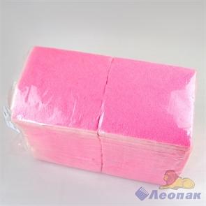 Салфетка розовая-пастель ЭКО (400шт/12уп) 24х24см  арт.1516027