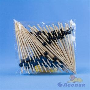 Пика  Черная  жемчужина  бамбук 120мм (100шт/40уп)