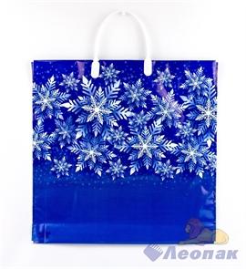 Пакет с пластик.ручками 36х37-100мкм  Синева  (100)/ТИКО