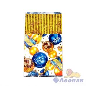 Пакет фольгированный 20х35см  Подарки зимы  (100шт/20уп) /Интер