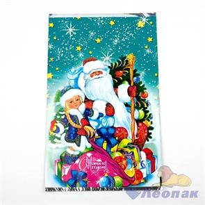 Пакет фольгированный 25х40см  Мешок подарков  (100шт/20уп) /Интер