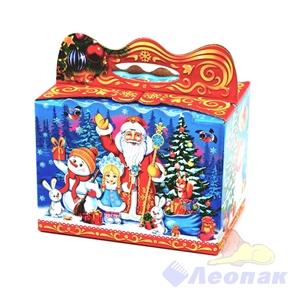 Коробка н/г  Зимний праздник в лесу  50шт./пач (0,6-0,8кг)