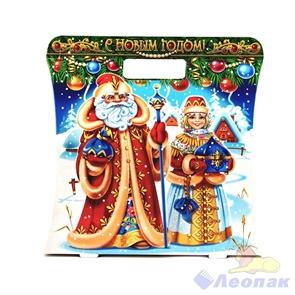 Коробка н/г  Дед Мороз и Снегурочка с подарками  50шт./пач (1,0-1,2кг)