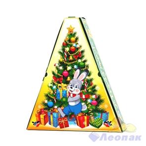 Коробка н/г  Весёлый Новый год  синяя 100шт./пач (0,3-0,5кг)