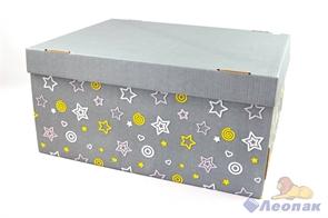 Коробка для хранения крышка+дно  Звездное небо  280х370х180, Т23Е