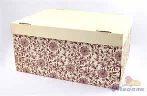 Коробка для хранения крышка+дно  Цветущий шиповник  280х370х180, Т23Е