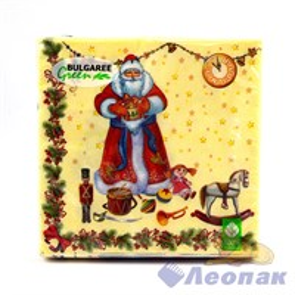 Салфетка  Подарки Деда Мороза  (20шт/15уп) 33х33см  3х-слойная / Булгари