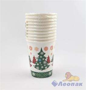 Стакан бумажный 250мл  Сказочный лес  (10шт/48уп) /Булгари