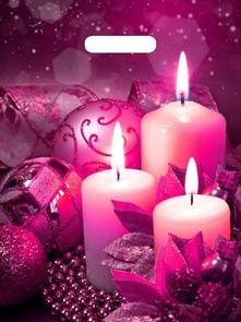 П-выр.ручка 31х40-60мкм  Свечи пурпур  ламинированный  (500) ТИКО