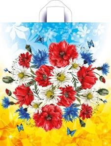 П-петл.ручка 42х38-37мкм Луговые цветы NEW ПНД (50/300) ТИКО