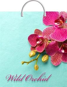 Пакет с пластик.ручками 44х40  Розовая орхидея  (100) ТИКО