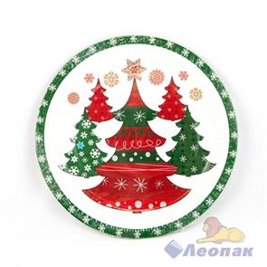 Тарелка бумажная d-230,  Сказочный лес  (10шт/48уп) /Булгари