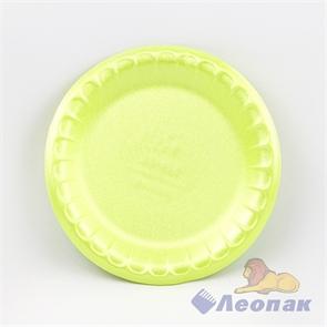 Тарелка десертная вспененная D 170 салатовая (100шт/2700 шт)