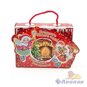 Коробка д/новог.подарков  ЭЛЬФЫ   (0,8 кг)