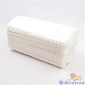 Полотенце V-сложение ЦЛЛЗ белое 25 гр/м.кв, (15уп=250 лист) арт Т2241505 п/э мешок