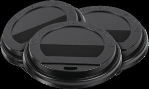 Крышка D=80мм черная TLS-80 ГН (100шт/10уп)  АВ
