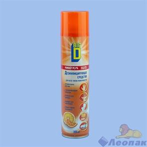 Средство дезинфицирующее  BIG D для всех типов поверхностей в аэрозольной упаковке, 300мл