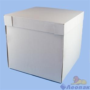 Коробка для тортов 380*380*350мм (ДНО+КРЫШКА) белая (10шт)