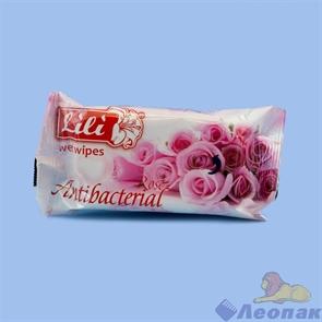 Салфетка влажная   Lili  антибактериальная (15шт)