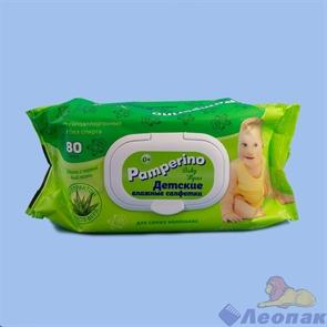 Pamperino влажные салфетки детские с пластик. клапаном (80шт/20уп) арт. 15308
