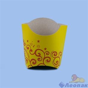 Упаковка для картофеля  Фри  оранж 100-150гр  (50шт/1уп)ЭКО