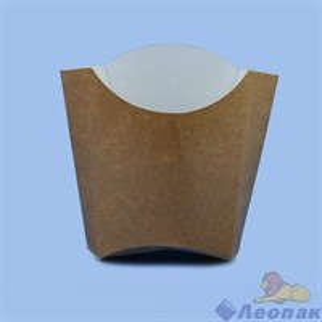 Упаковка  для картофеля  Фри  100гр Крафт  (50шт/1уп) ЭКО